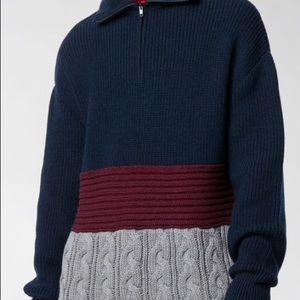 BALENCIAGA Multicolor Men's Mixed  Sweater Size M